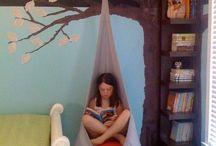 Wohnen - Leseecke im Kinderzimmer / reading nook