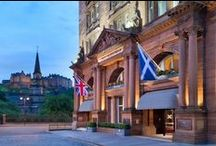 "Waldorf Astoria Edinburgh - The Caledonian / Waldorf Astoria Edinburgh - The Caledonian or the ""Caley"" as it has become affectionately known in Edinburgh, was and still is the epitome of style and excellence. The large, rose-coloured Permian sandstone façade, quarried in Dumfries, dominates the skyline of the city's west end. The hotel has not only remained a focal point for more than one hundred years, but also as a symbol of the very best of Scottish hospitality. The hotel's reputation is as justified now as it was in 1903."