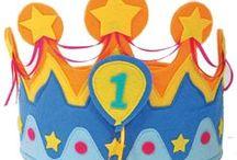 Birthday crowns / Verjaardagsmutsen