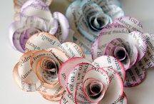 créer des fleurs, paper & fabric flowers, Flores de papel y tejidos