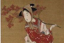 Japon: geisha, samouraï... / thèmes d'inspiration pour des modelages, personnages tube en terre , geisha, samouraï...