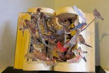 paper sculptures to books