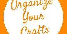 Organize Your Crafts / Organizing your craft room is a job in and of itself. See a collection of craft organization tips and helpful layouts and rooms that are to die for!