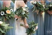 Wedding Flowers Inspiration / Wedding flowers, bouquets, unique uses, boutonnieres, decor, hair.