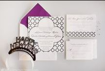 Wedding Stationery / Invitations, programs, table numbers. Inspiration for the paper on your big day!