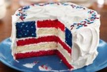 The Red, White and Blue / Dishes with a patriotic theme.