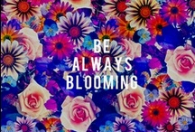 flower power / Spring is in the air, and we are having tons of floral fun! Whether it's inspirational flowers, beautiful jewels, or bright, kicky prints, we can't get enough. xoxo