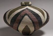 Baskets, Boxes, Bamboo & Wood / Vintage luggage, brooms, baskets, and boxes. / by Susan Garnett