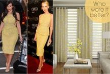 Who Wore It Better? / Who wore it better? 3 Day Blinds takes on celebrtities and A-listers in the who wore it better quest. Translate high fashion trends to your windows with 3 Days Blinds custom window treatments! / by 3 Day Blinds
