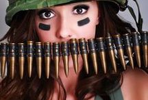 Army Girl..Pvt. Benjamin / Salute! Female soldiers! God Bless America!