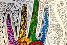 Zentangle Therapy / Meditative doodling  / by Lisa Gray