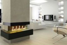 Modern Fireplaces / Our modern fireplaces are innovative, energy efficient, and installed by our team of highly trained professionals.