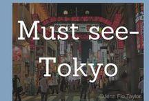 Must see- Tokyo Hotspots! / Tokyo, Attractions, Travel, Visitors, Japan, Food, Sights, Temples, Transport.