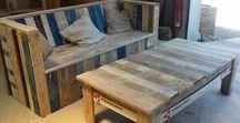 Palettes recyclées / Meubles et Objets fabriqués à partir de bois de palettes et de recup