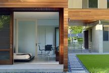 Architecture / Words like ~ open plan, modern, minimalist with a touch of wood, uncluttered ~ come to mind ...