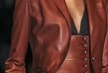 Leather & suede / As far as leather is concerned, less is always more ...