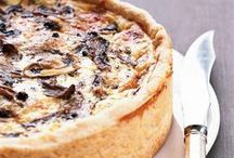 Quiche and savoury tarts / I just love quiche ... could eat it every day! Perfect meal with a little salad ... heavenly!