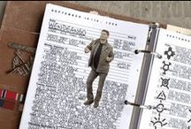 John Winchester's Journal / Reference images for creating your own journal. NB - Creating a journal in John Winchester's *style*, not trying to be a completely accurate reproduction.