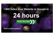 Get your website indexed by Google in 24 hours / The web is large, very large; every minute there are created 571 new websites. Google can''t crawl and index every page, every day so it has to choose which fraction of the web it should crawl.  There is no set time for Google to index your brand-new website. The time taken can vary between 4 days and 4 weeks; in some cases it may take longer.   Help Google find and index your website faster with this top-notch Indexing Service.