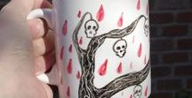 Hand painted cups / tazas pintadas a mano