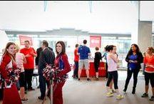 Challenge Le 1000 / Le 1000, immeuble de prestige à Montréal, ouvre ses portes chaque année et invite le public à gravir les escaliers du 3e au 42e étage au profit de la Fondation des maladies du cœur et de l'AVC.