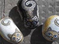 Kavicsfestés, macsekok - Rock cats