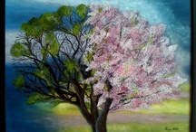 Artwork-Paintings / Oil paintings of landscapes, abstract, nature with lots of color including some paintings by Miss Alice herself!