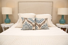 Small Bedroom Design / Small Bedroom Design project with neutral color scheme and a pop of color seen in accents.