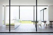 house // living / Monochrome is perfection. Colour comes to the room with your ideas, company and life.