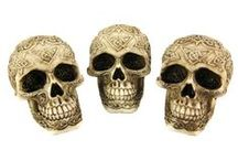 Skulls, Skulls, Skulls / Skull accessories for your home, from subtle accents to Gothic pieces that are sure to start a conversation.