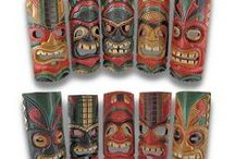 Chic-y Tikis / Add a touch of the islands to your home with these wonderful Tiki statues, wall hangings and lights!
