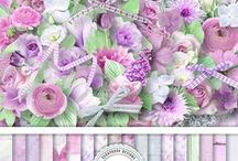In My Garden Flowers Grow by Ilonka's Scrapbook Designs