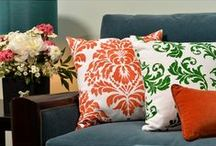 Classic Pillows / There is nothing more classic than a damask accent pillow! Creating your own custom designer pillows is fast, easy and fun with our Paint-A-Pillow stencil kits! With unlimited color choices, creating an elegant ambiance full of color and classic pattern is just one fun and easy DIY project away!