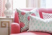 Accent Colors: Pink / For the lovers of pink home decor and accent pillows! It's possibly the most feminine and cutest color in the crayon box!
