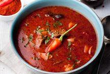 Beautiful food: soup / Soup: Bisque, Gazpacho, Borsch, Bouillabaisse, Cock-a-leekie soup, Soupe à l'oignon, Kharcho, Minestrone, Noodle soup, Miso soup, Shchi, Solyanka, Tom yum and other
