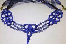 Tatting jewelry. Фриволите бижутерия. / Bracelets, necklaces, pendants Браслеты, колье, кулоны