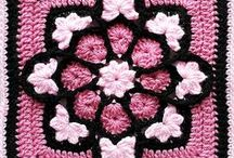 Needlework: Crochet Squares