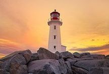 Lighthouses - Canada / Lighthouses along the coast line and waterways of Canada. / by Emil Bruner