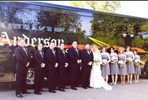 Weddings / Anderson Coach can transport your bridal party in style and comfort to your wedding, reception, photography session or bachelor party.