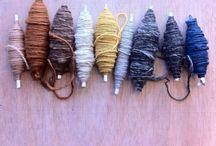 . Spinster / Spinning knitting weaving during yarns