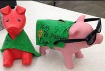Piggy Banks at CML / We have piggy banks that love to dress up!