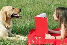 Reading with Furry Friends / Reading (and snuggling) with our furry friends is the best.