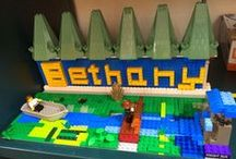 Bethany Library Lego Display / Imagining the future Bethany Library expansion with Legos