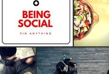 Being Social - Pin Anything / Please Email us at PinAnything@hotmail.com to Join! ~Members can add others! Please be mindful to not flood the board.  Happy Pinning!! / by Opt2Shop.com
