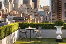 Roof-top gardens / Ideas for Bridget's amazing balcony;-)