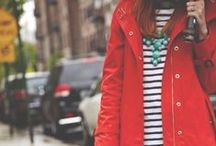women's preppy + classic / blazers | pencil skirts | chunky necklaces | prints | trench coats