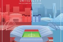 #United Review - Fan art / We had more than 450 entries when we asked fans to submit designs for the matchday programme's front cover vs Manchester City.   Here's a small selection of some of those submissions...