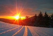 Snowboarding.Skiing