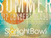 Starlight Bowl 2017 / 2017 SUMMER CONCERTS  The Starlight Bowl's convenient location, great sight lines, grassy picnic area and comfortable seating are complemented by the high quality family entertainment presented on July 4th and the weekend concerts offered throughout the summer. All concerts begin at 6:30 p.m. Come out and spend the summer with us. At the Starlight Bowl, you can expect the best in music and entertainment.
