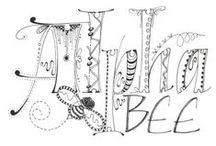 lettering/zentangles